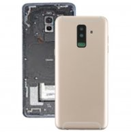 Back Cover with Side Keys & Camera Lens for Samsung Galaxy A6+ / A605(Gold)