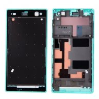 Front Housing with Adhesive Sticker for Sony Xperia C3(Green)