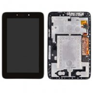LCD Screen + Touch Screen Digitizer Assembly with Frame for Lenovo Idea Tab A2107(Black)