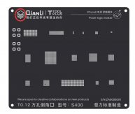 Qianli 3D Black Stencil Universal Power Logic Stencil for iPhone 5/5S/6/6P/6S/6SP/7/7P/8/8P/X Power Logic Module Reballing