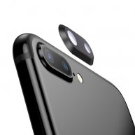For iPhone 8 Plus Rear Camera Lens Ring(Black)