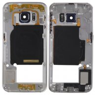 Back Plate Housing Camera Lens Panel with Side Keys and Speaker Ringer Buzzer for Samsung Galaxy S6 Edge / G925F(Grey)