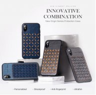 ROCK Origin Series Business TPU + PU Protective Case for iPhone XS / X/XS Max/XR