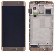 LCD Screen Touch Digitizer Assembly with Frame For Huawei Mate 9 Pro-Gold