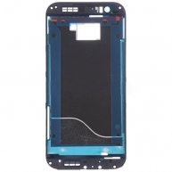 Front Housing LCD Frame Bezel Plate Replacement for HTC One M8(Black)