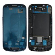 Front Cover with Home Button Key for Samsung Galaxy SIII L710-Blue