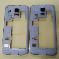 For Samsung Galaxy S5 Duos SM-G900FD Rear Housing Replacement - Silver