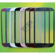 Color High Quality Touch Glass Lens with oca glue For samsung I9300 Galaxy S III