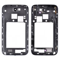 Back Housing with Bezel and Camera lens&Power&Volume Buttons for Samsung Galaxy Note II SCH-i605/ L900/R950-Black