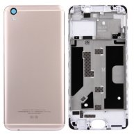 Battery Back Cover + Front Housing LCD Frame Bezel Plate for OPPO R9 (Gold)