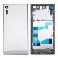 For Sony Xperia XZ Back Battery Cover + Back Battery Bottom Cover + Middle Frame(Silver)
