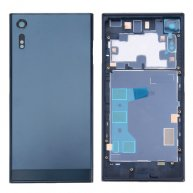 For Sony Xperia XZ Back Battery Cover + Back Battery Bottom Cover + Middle Frame(Dark Blue)