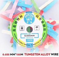 XUANHOU 0.035mm Highly Flexible Tungsten Alloy Wire for Samsung OLED LCD separate glue remove clean wire tool 150m