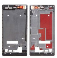 Front Housing Screen Frame Bezel Replacement for Huawei Ascend P7(Black)