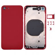 "High Quality Back Full Assembly Metal Housing Cover with Side Keys/SIM Tray/NFC Sticker For Iphone 8 4.7""-Red"