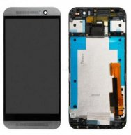 For HTC One M9 LCD Screen and Digitizer Assembly with Front Housing Replacement - Gray