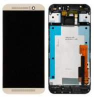 For HTC One M9 LCD Screen and Digitizer Assembly with Front Housing Replacement - Gold