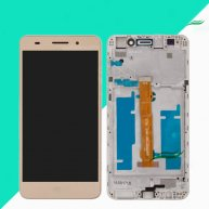 LCD Screen with Touch Screen Assembly Replacement with Frame for Huawei Honor 5A/Y6 II-Gold(Huawei Logo)