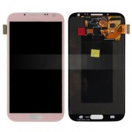 For Samsung Galaxy Note ii N7100 LCD Assembly with Touch Screen Digitizer - Pink