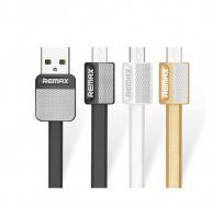 REMAX Micro USB Data cable flat metal charging cable 2.1A durable fast charger cable for LG/sony/samsung/HTC/Huawei etc.