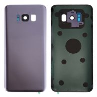 For Samsung Galaxy S8+ / G955 Battery Back Cover with Camera Lens Cover & Adhesive (Orchid Gray)