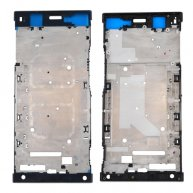 For Sony Xperia XA1 Ultra Front Housing LCD Frame Bezel Plate(Black)
