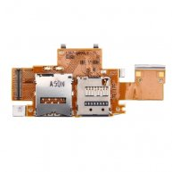 SIM Card and SD Card Reader Contact Flex Cable Replacement for Sony Xperia Tablet Z / SGP311 / SGP312 / SGP321