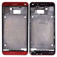 Front Cover with Middle Frame for HTC One M7-Red