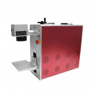 High quality Raycus 20W portable mini optical fiber laser marking machine Red