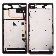 For Sony Xperia Z3 (Single SIM) Front Housing LCD Frame Bezel(Brown)
