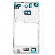 White Front Housing Frame Repair Part for Sony Xperia ZR M36h C5503