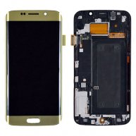 LCD Screen and Digitizer Touch Screen with Frame for Samsung Galaxy S6 Edge G925F Gold Or