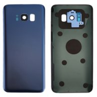 For Samsung Galaxy S8+ / G955 Battery Back Cover with Camera Lens Cover & Adhesive(Blue)