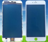 For Iphone 6 4.7' Front Glass Touch Screen Lens(High Quality) with Frame(High Quality)-White