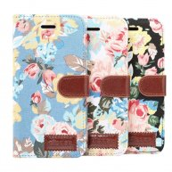 Dibase Flower Pattern Horizontal Flip PU Leather Case for iPhone XS, with Holder & Card Slot