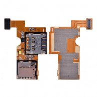 SIM Card Tray & Memory SD Card Holder Flex Cable for LG Optimus F6 D500