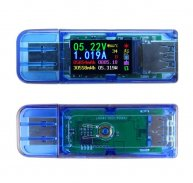 AT34 USB 3.0 Color LCD Voltmeter Ammeter Multimeter Battery Charge Voltage Current Meter Power Bank USB Tester