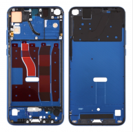 Front Housing LCD Frame Bezel Plate with Side Keys for Huawei Honor V20 (Honor View 20)(Blue)