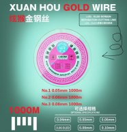 0.05/0.06/0.08mm 1000M Gold Molybdenum Wire LCD Glass Separation Cutting Line