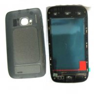 Back Housing Cover with Front Glass Replacement For nokia Lumia 710 -Black