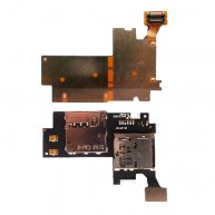 For Samsung Galaxy Note 2 LTE N7105 SIM Card Connector and Memory Card Holder Flex Cable
