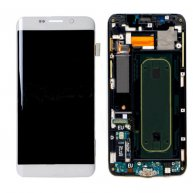 LCD Screen with Touch Screen Assembly Replacement With Frame for Samsung Galaxy S6 Edge+ G928F White Or