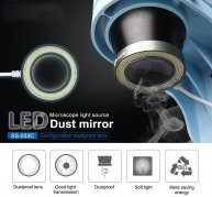 SS-033C Microscope 36 LED White Light Source Dust-Proof Mirror Anti Fume Protector Doubling Magnifier