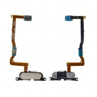 Home Button with Connector, Flex Cable and Fingerprint Scanner Sensor for Samsung Galaxy Alpha G850F- Gold