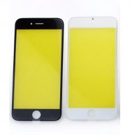 "For Iphone 6S PLUS 5.5"" Front Glass Touch Screen Lens(OR) with Frame(OR)-Black"