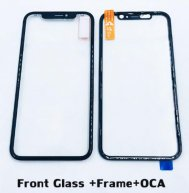 For Iphone 11 Front Glass Lens with Frame+ OCA
