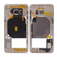 Middle Housing with Camera Lens and Camera Bezel Cover, for Samsung Galaxy SVI Edge Plus-Gold