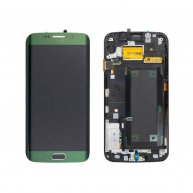 LCD Screen and Digitizer Touch Screen with Frame for Samsung Galaxy S6 Edge G925F Green OEM