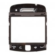 Front Cover with Touch Lens For BlackBerry Curve 9360-Black