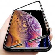 Ultra Magnetic Adsorption Phone Case For iPhone XS Max/XR/XS Plus Coque Luxury Magnet Glass Cover Fundas